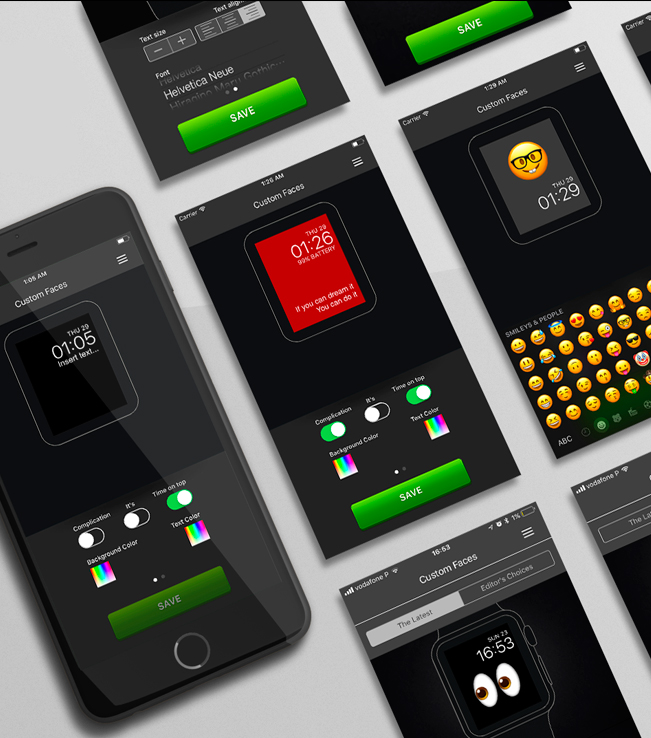 App iPhone - Custom Faces for the Apple Watch