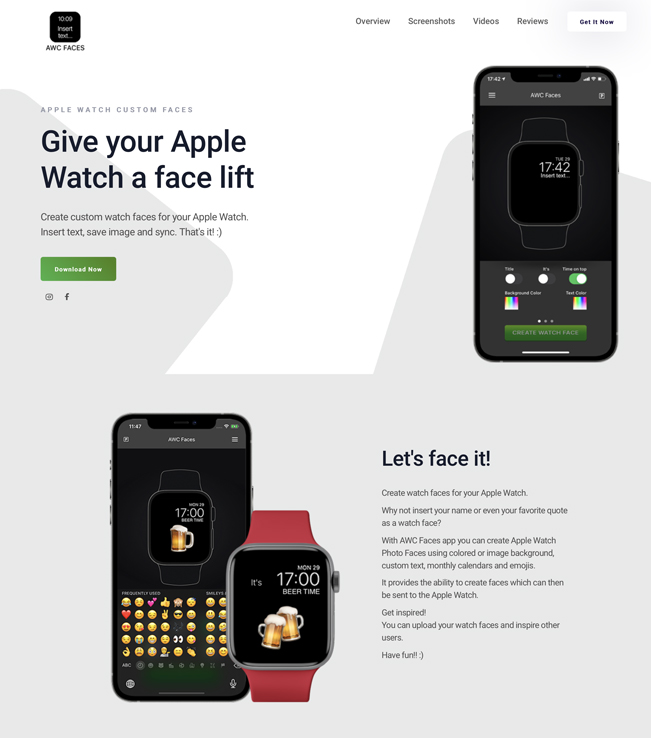 Website - AWC Faces - Apple Watch Custom Faces