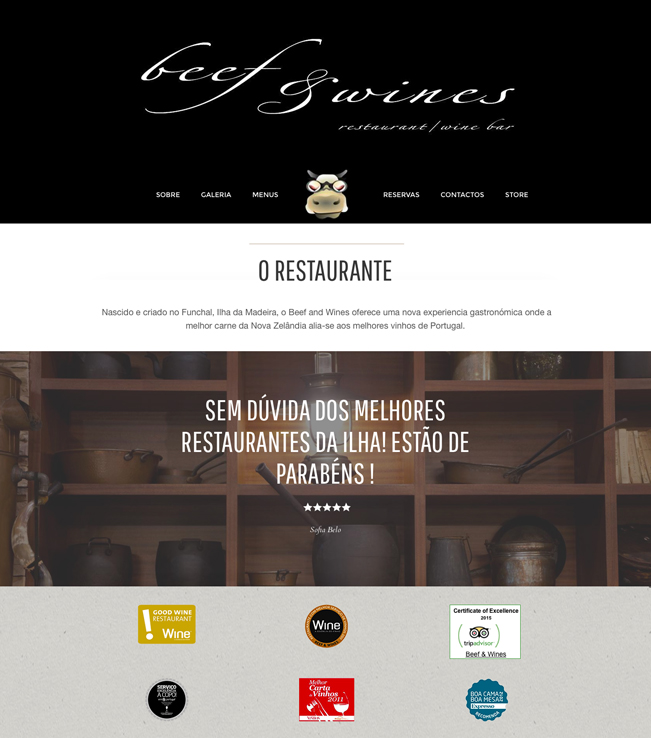 Website - Beef and Wines