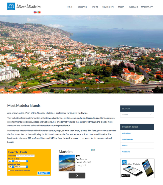 Website - Meet Madeira Islands