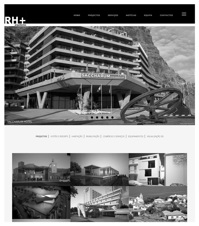 Website - RH+ Arquitectos