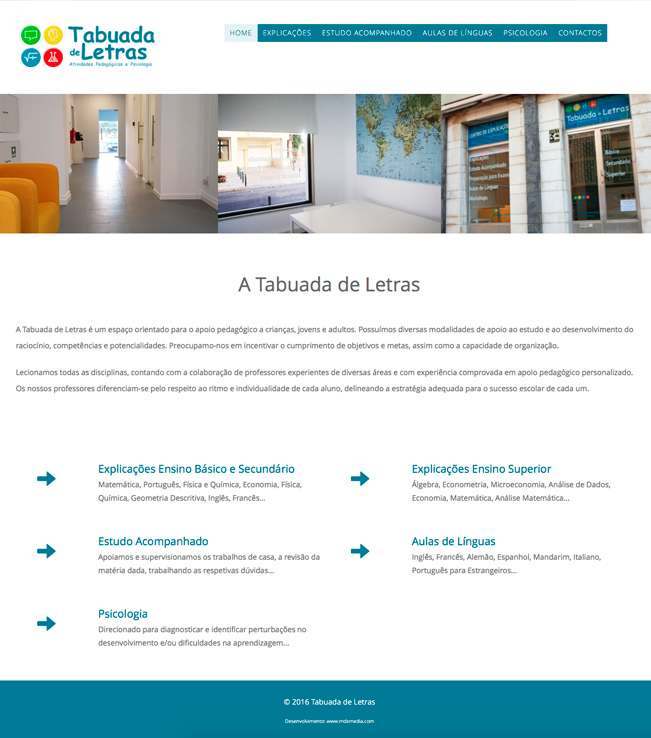 Website - Tabuada de Letras