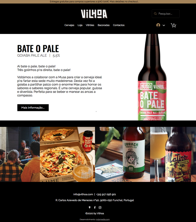 Website - Vilhoa - Craft Beer